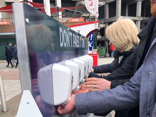 'Don't Pass It On' Hand Sanitiser Stations