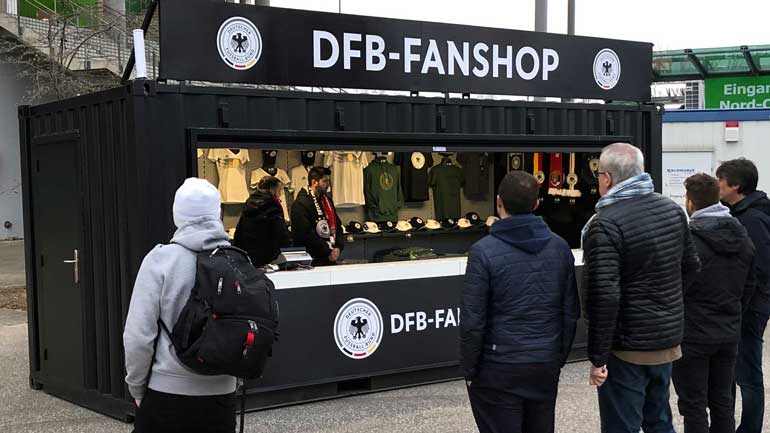 Cube Delivers Event Retail Structures to German Football Federation