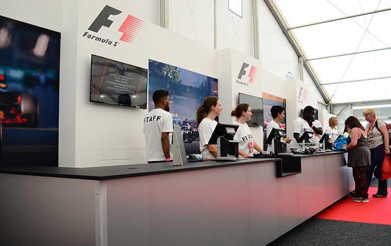 Cube debuts new F1 Merchandise Store for Fanatics at Silverstone