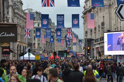 nfl london games regent street party