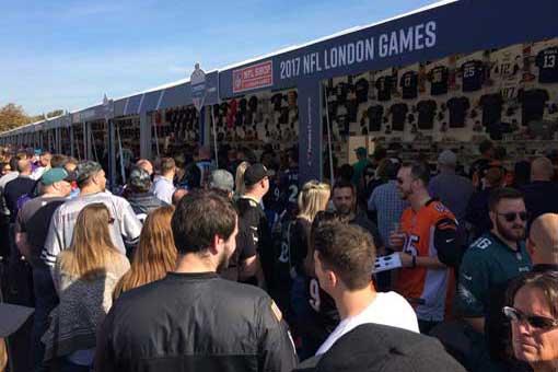 nfl london shop crowds