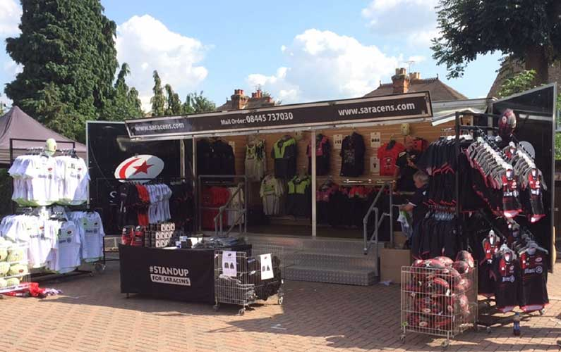 Cube Delivers Merchandise Retail Support for Saracens RFC at Twickenham